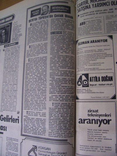 18 Şubat 1979 Pazar - Milliyet