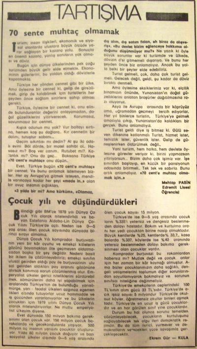 8 Mart  1979 - Cumhuriyet