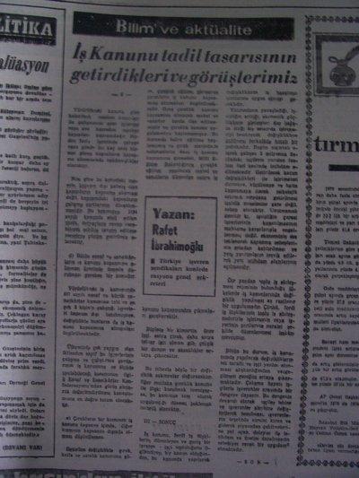 16 Nisan 1979 Pazartesi - Turkiye
