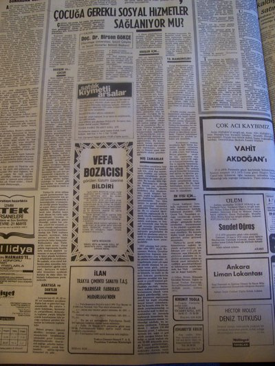 18 Mayıs 1979 Cuma - Milliyet
