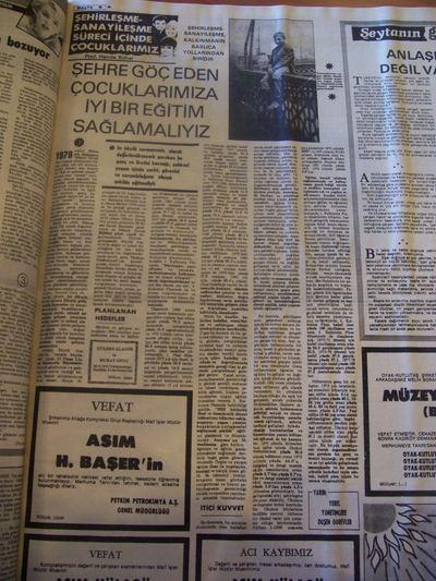 29 Ağustos 1979 Çarşamba - Milliyet