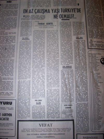 31 Ağustos 1979 Cuma - Milliyet