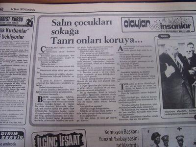 27 Ekim 1979 Cumartesi - Hurriyet