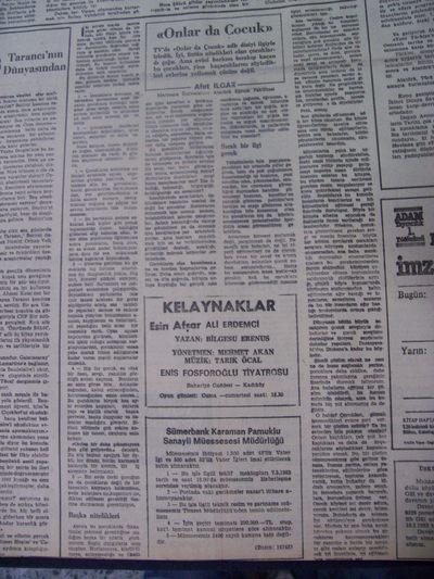 03 Mart 1983 Perşembe - Cumhuriyet
