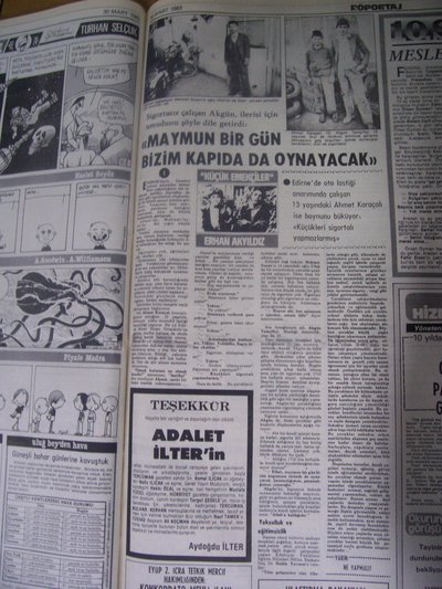 30 Mart 1983 Çarşamba - Milliyet