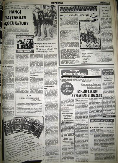 31 Mart 1983 Perşembe - Milliyet