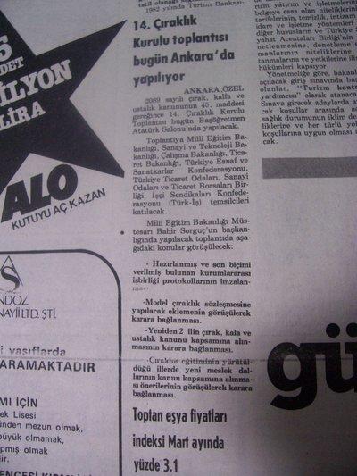 20 Nisan 1983 Çarşamba - Milliyet