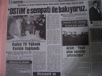 01 Mart 1988 Salı - Turkiye