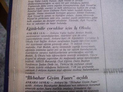 22 Mart 1988 Salı - Cumhuriyet