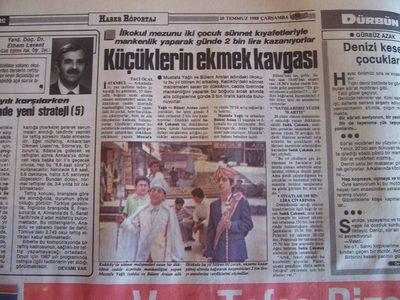 20 Temmuz 1988 Çarşamba - Turkiye