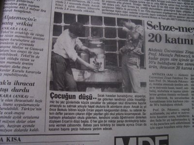 18 Ağustos 1988 Perşembe - Cumhuriyet