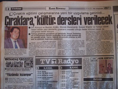 15 Eylül 1988 Perşembe - Turkiye