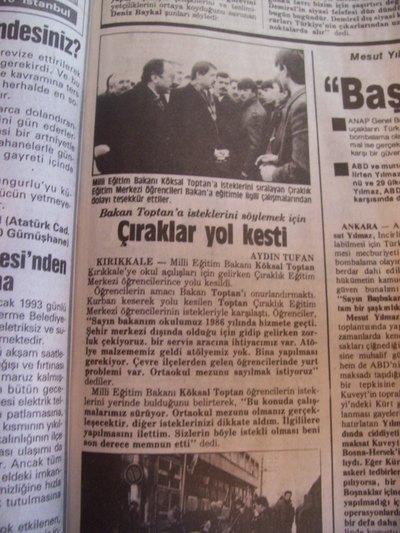 20 Ocak 1993 Çarşamba - Turkiye