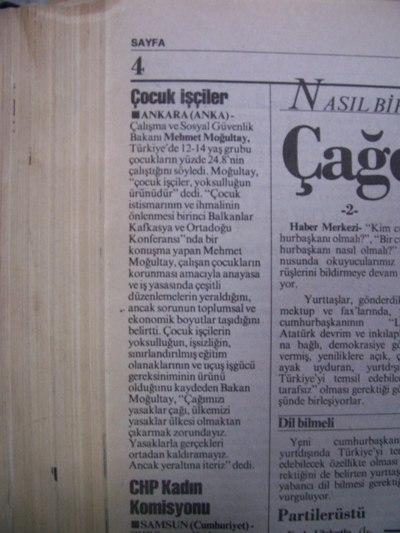 21 Nisan 1993 Çarşamba - Cumhuriyet