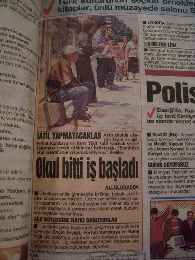 30 Haziran 1993 Çarşamba - Turkiye