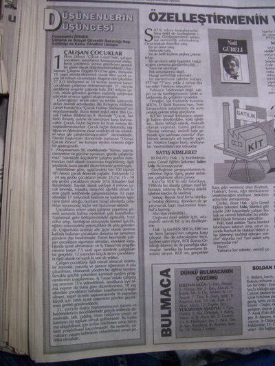 01 Ekim 1993 Cuma - Milliyet