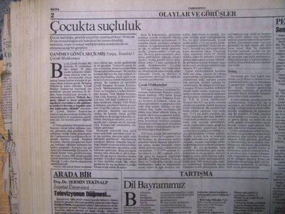 06 Ekim 1993 Çarşamba - Cumhuriyet