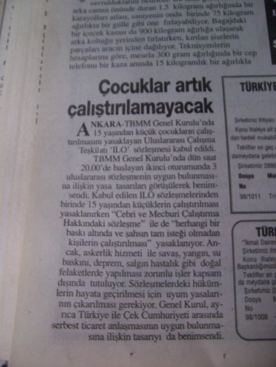 24 Ocak 1998 Cumartesi - Turkiye