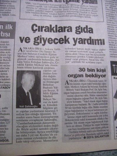07 Mart 1998 Cumartesi - Turkiye