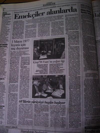 01 Mayıs 1998 Cuma - Cumhuriyet