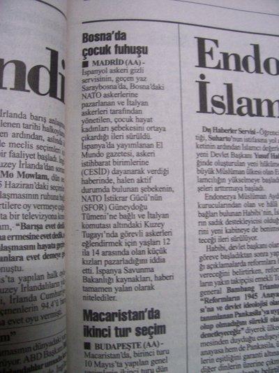 25 Mayıs 1998 Pazartesi - Cumhuriyet