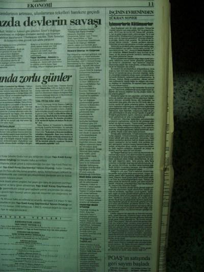 11 Haziran 1998 Perşembe - Cumhuriyet