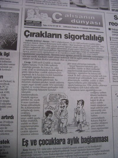 18 Temmuz 1998 Cumartesi - Turkiye
