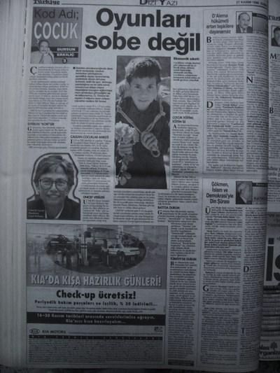 27 Kasım 1998 Cuma - Turkiye
