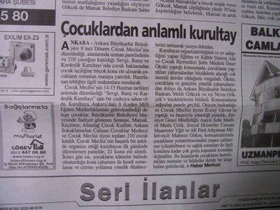 19 Haziran 2003 Perşembe - Turkiye