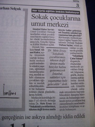 8 Haziran 2003 Pazar - Cumhuriyet