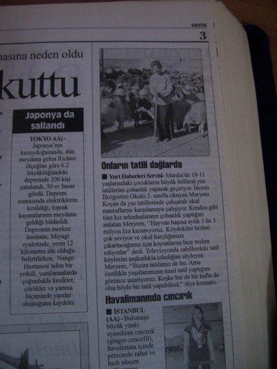 27 Temmuz 2003 Pazar - Cumhuriyet