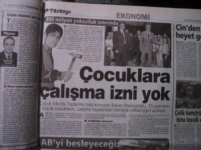 21 Ağustos 2003 Perşembe - Turkiye