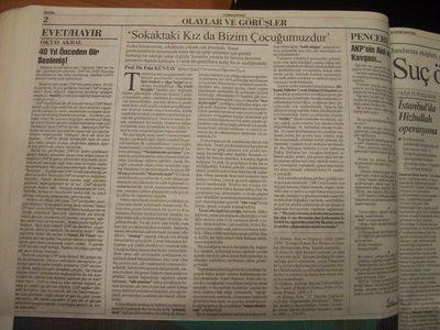 14 Ekim 2003 Salı - Cumhuriyet