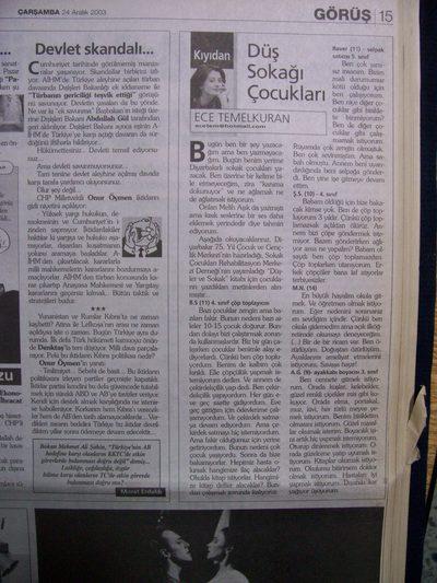 24 Aralık 2003 Çarşamba - Milliyet
