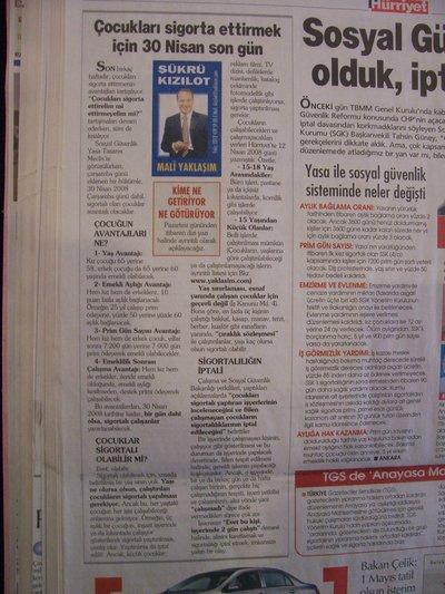 19 Nisan 2008 Cumartesi - Hurriyet