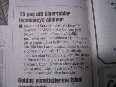 25 Mayıs 2008 Pazar - Cumhuriyet