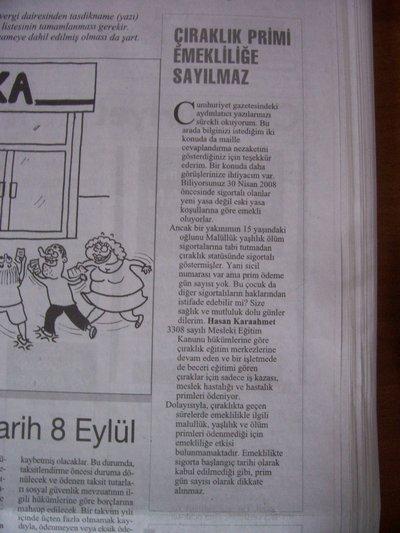 6 Eylül 2008 Cumartesi - Cumhuriyet